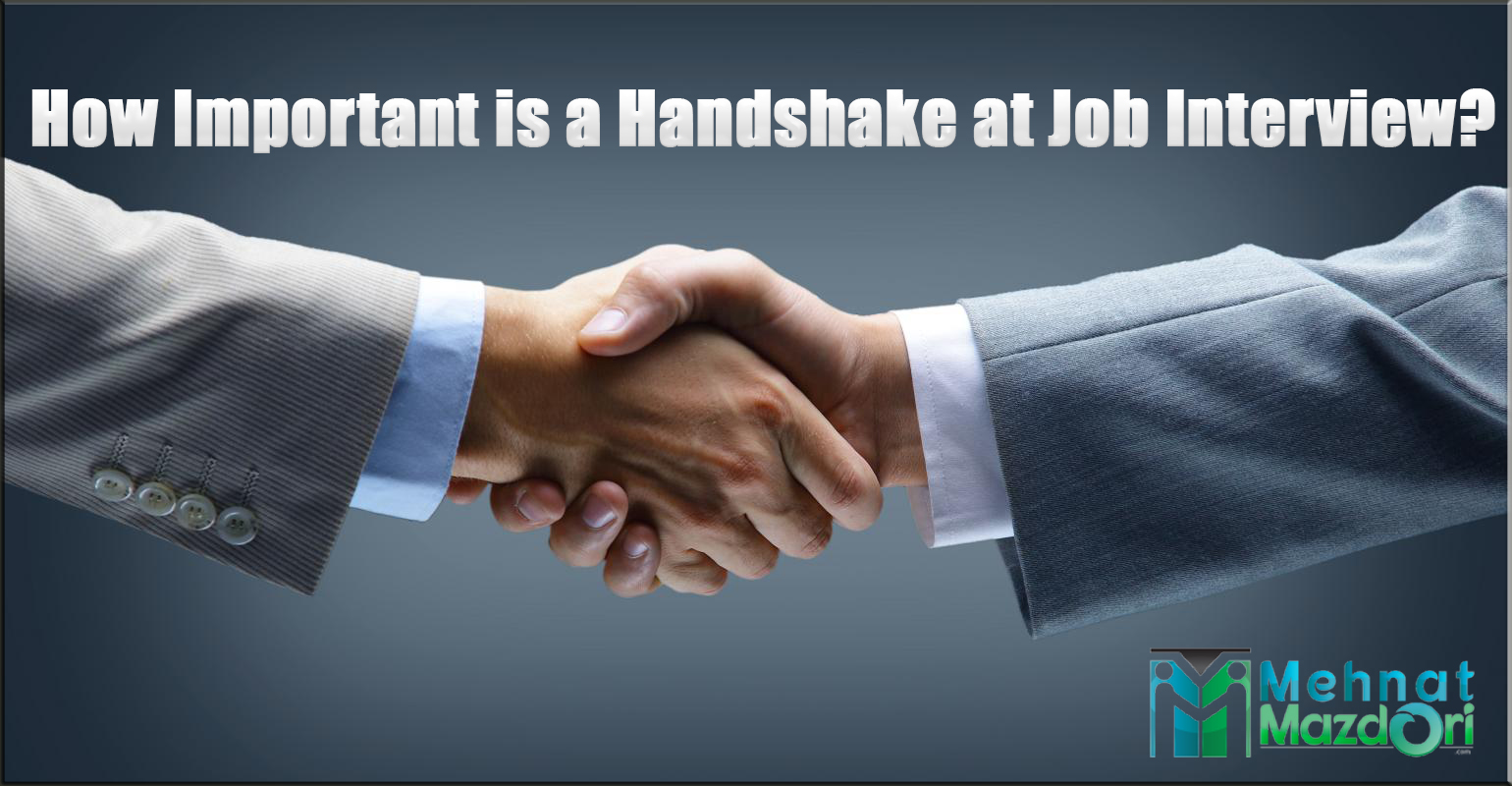 How Important is a Handshake at Job Interview?